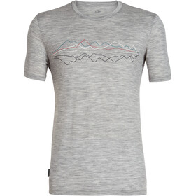 Icebreaker Tech Lite Icebreaker Original SS Crewe Top Men, metro heather
